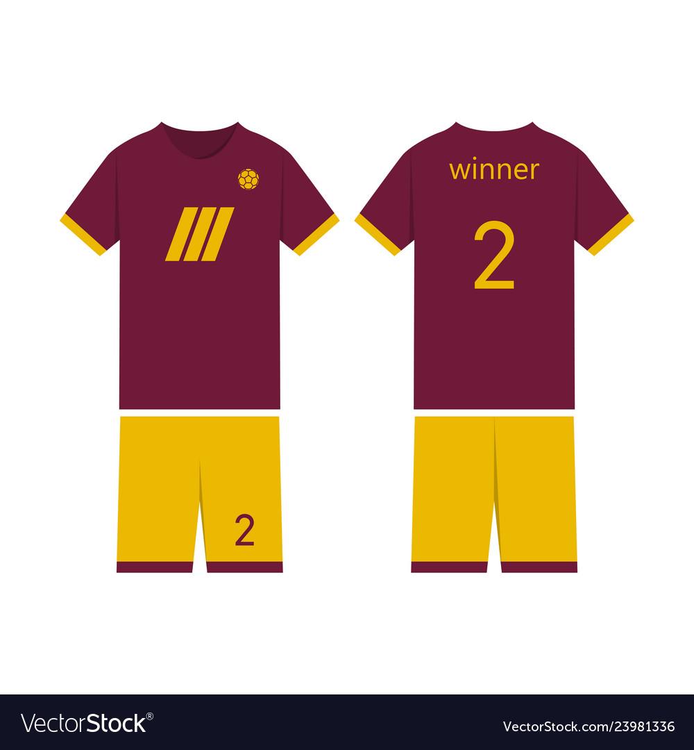 8bd642590 T-shirt sport design template for soccer jersey Vector Image