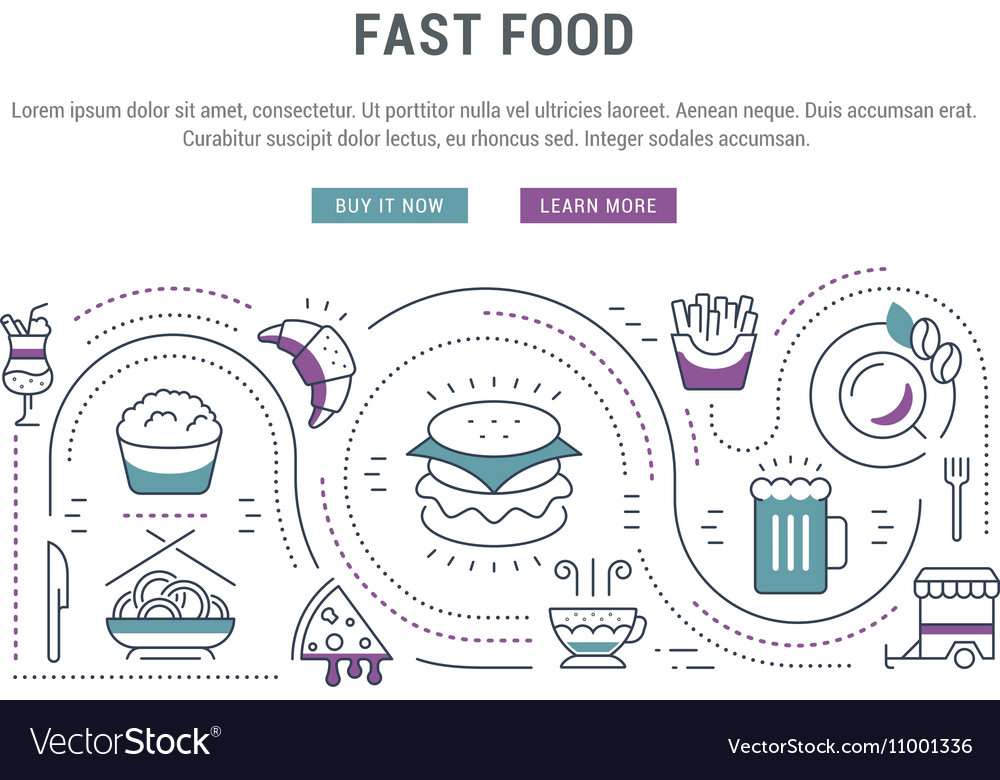 Website Banner and Landing Page Fast Food