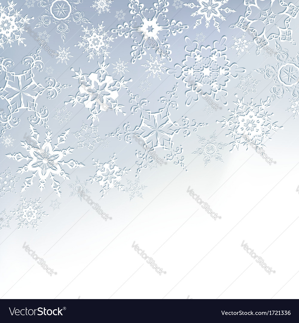 Winter stylish background with snowflakes