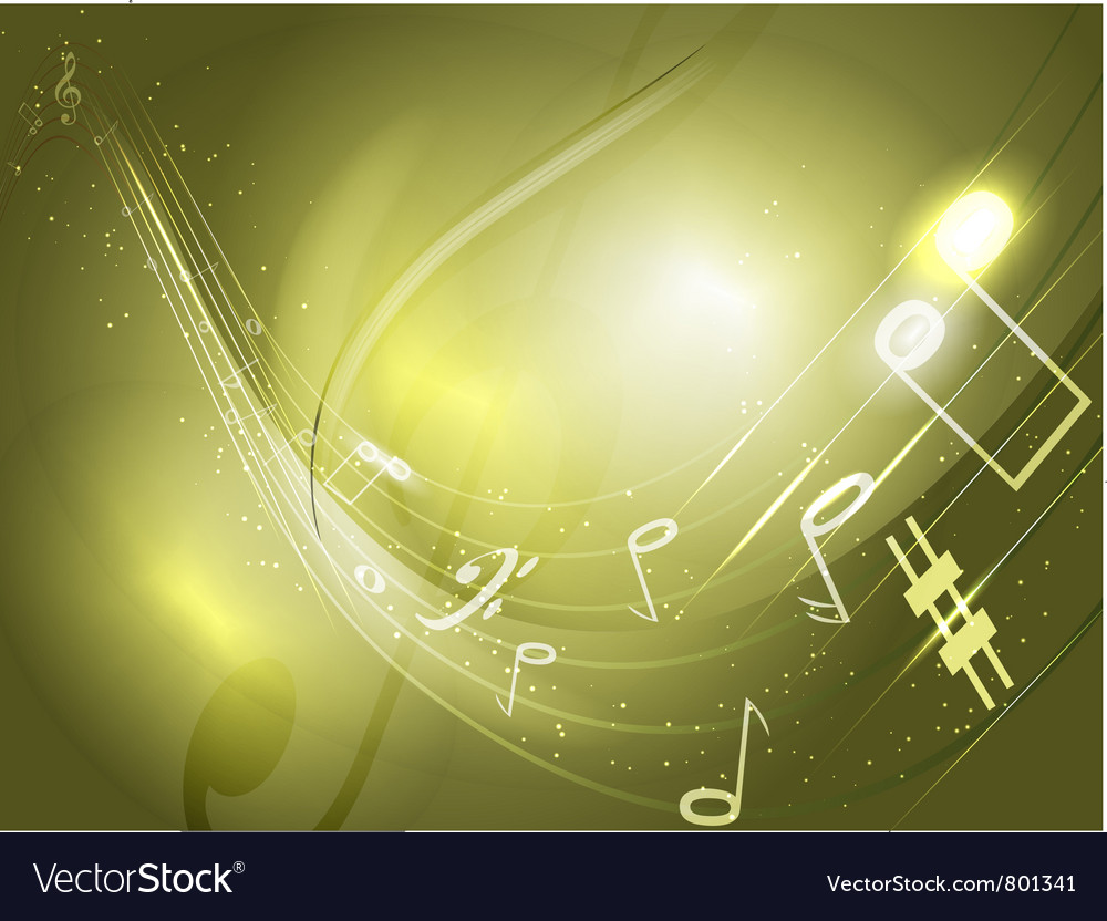 Abstract conceptual music background vector image