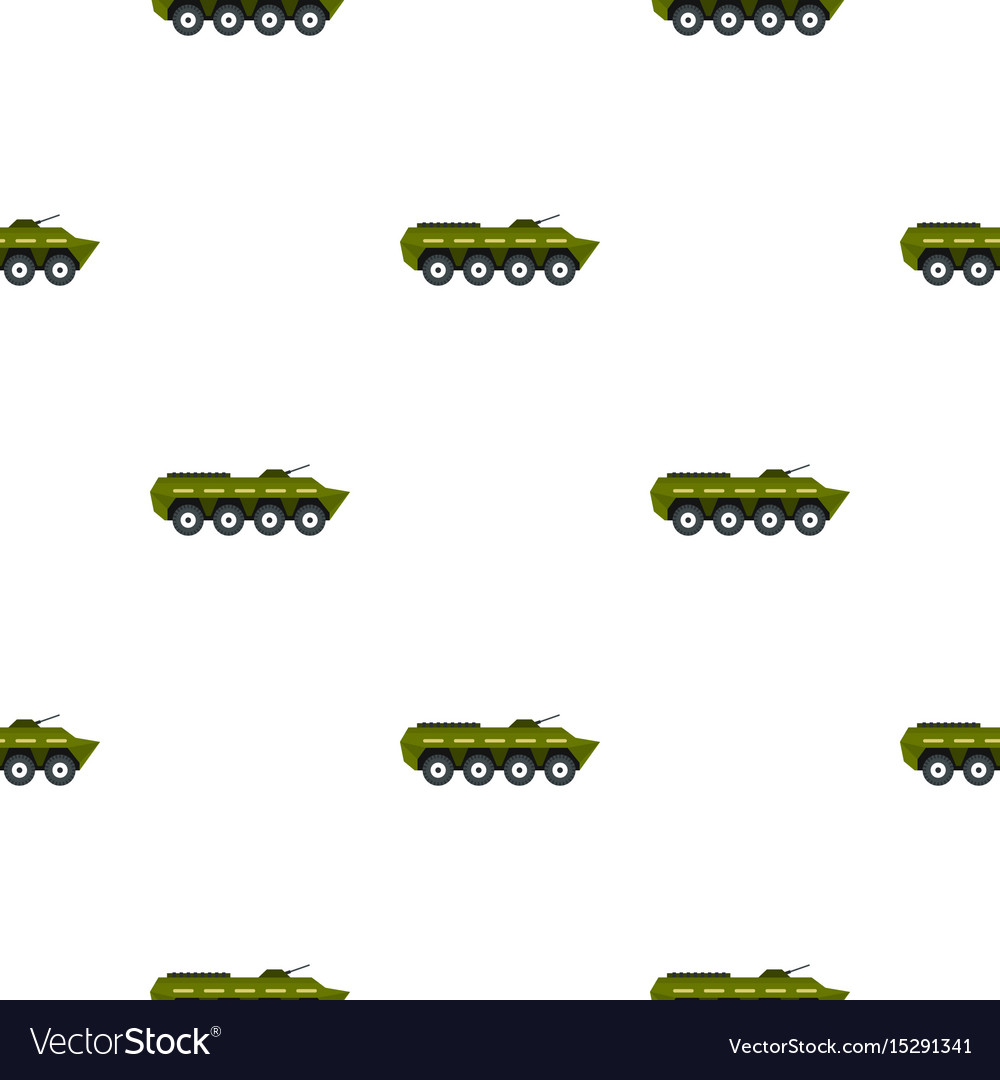 Armoured troop carrier pattern flat vector image