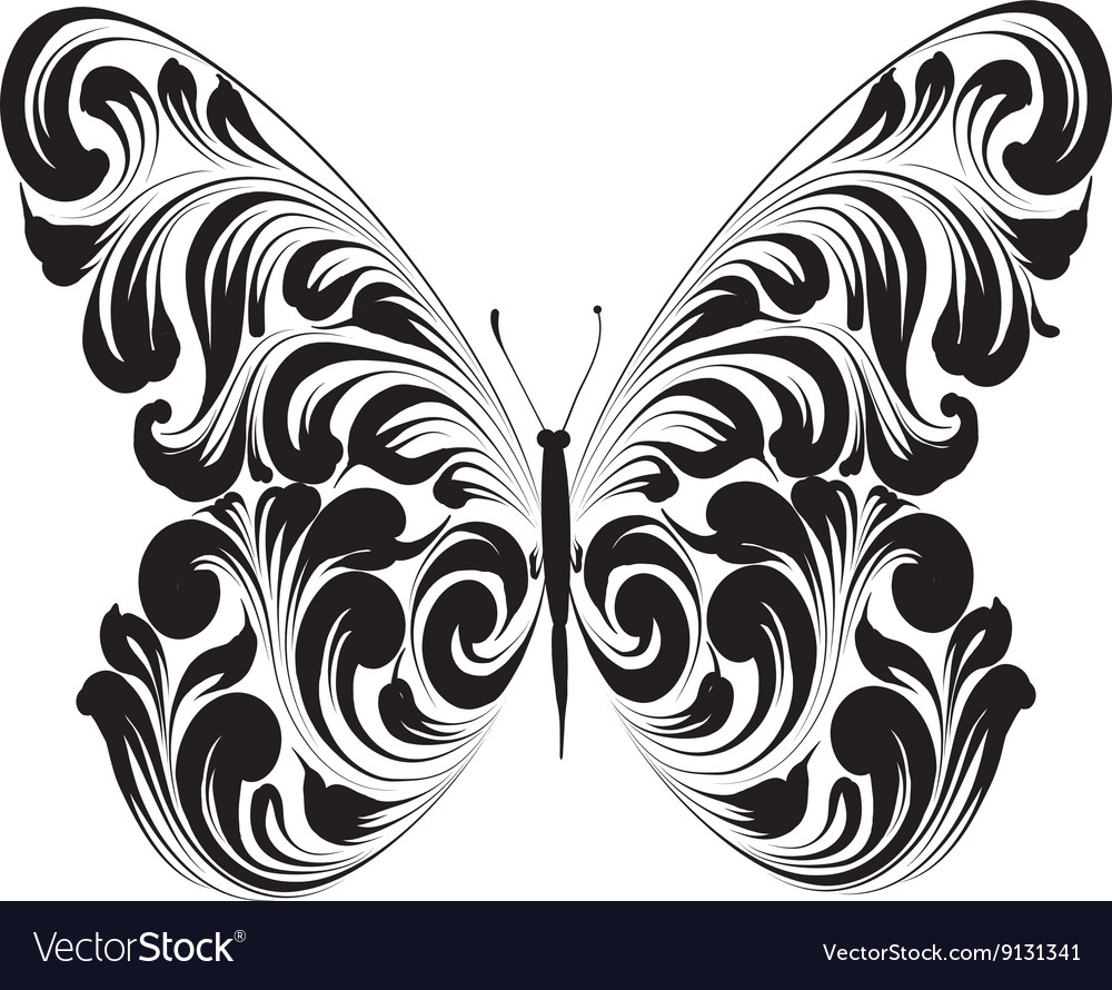 Butterfly of the ornament