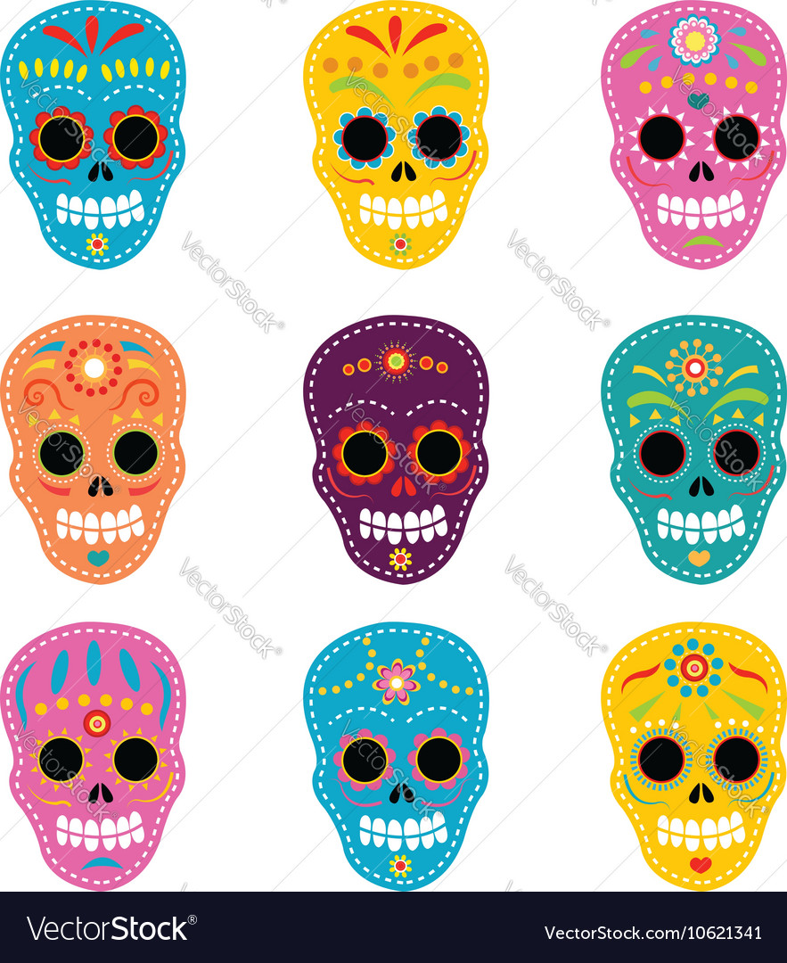 Day Of The Dead Skulls