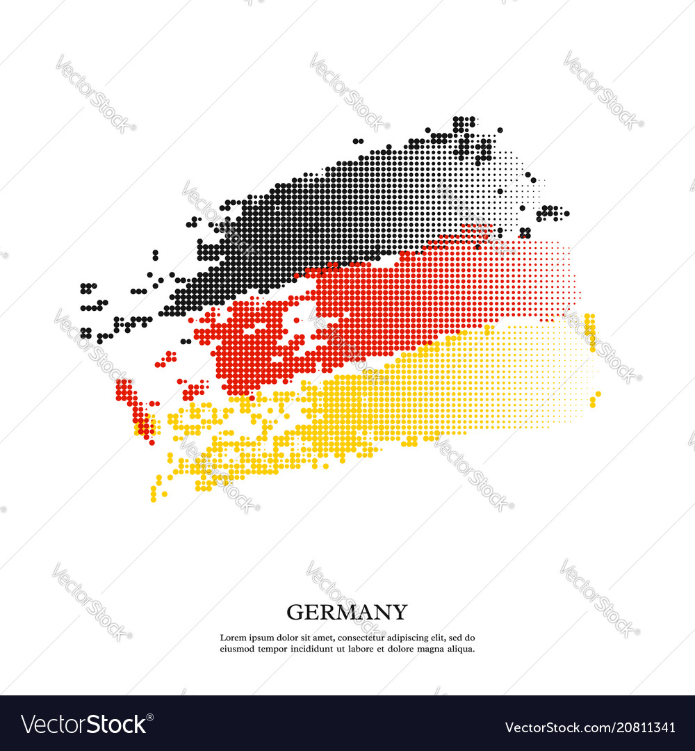 Germany flag with halftone effect grunge texture