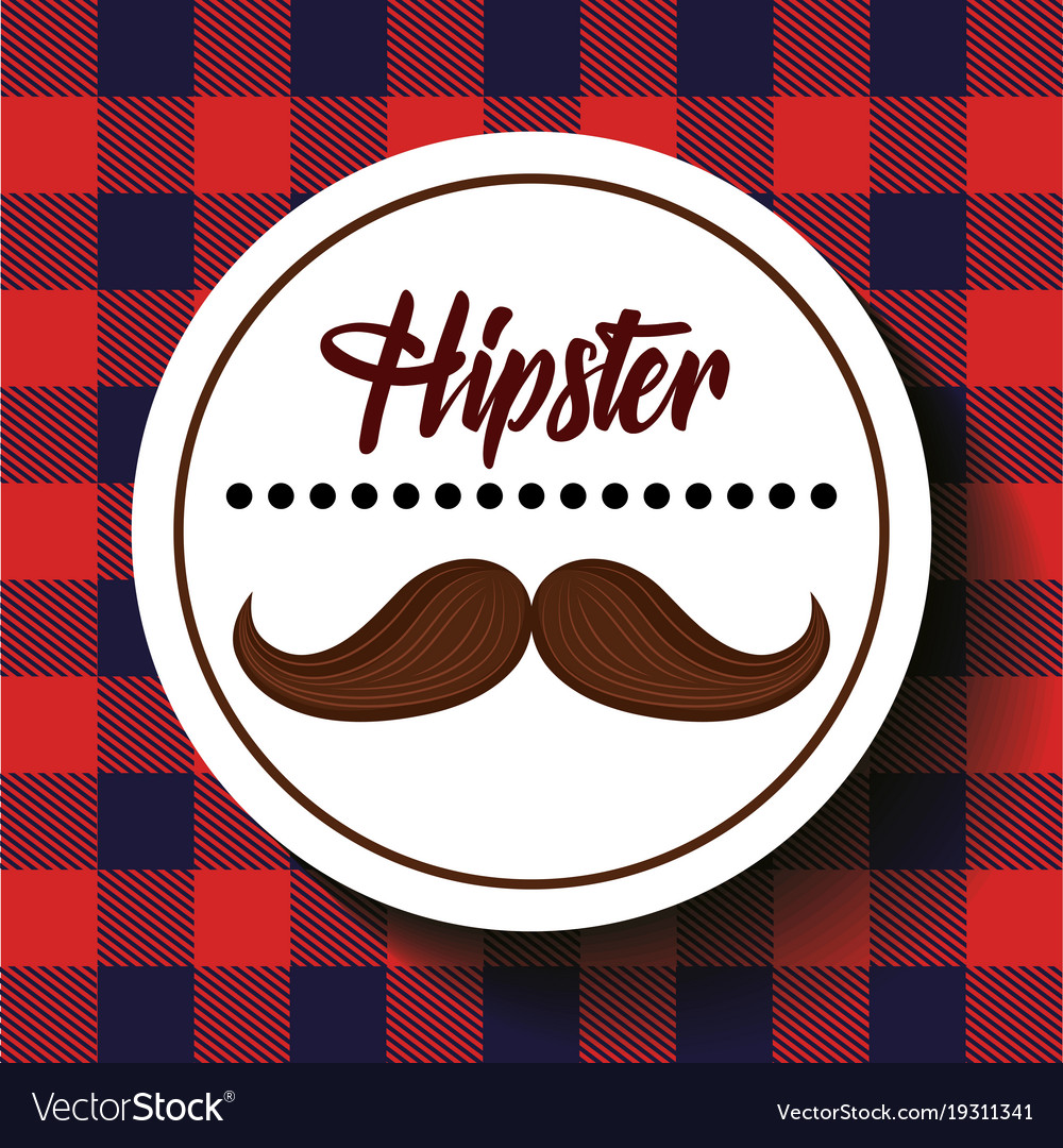 Hipster style mustache icon