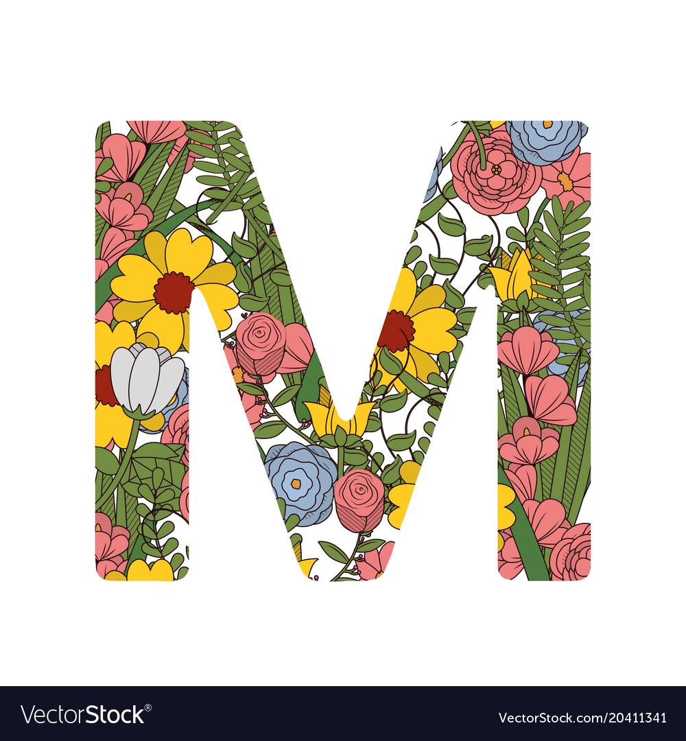 M font letter