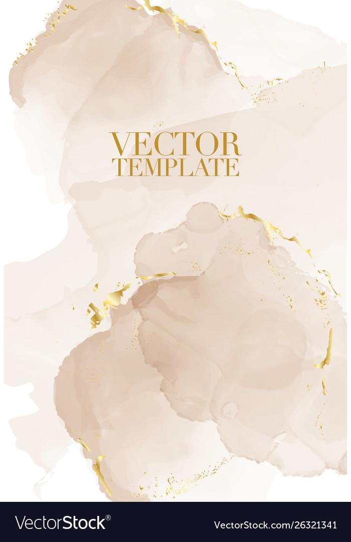 Marble rustic beige card wedding invitation card