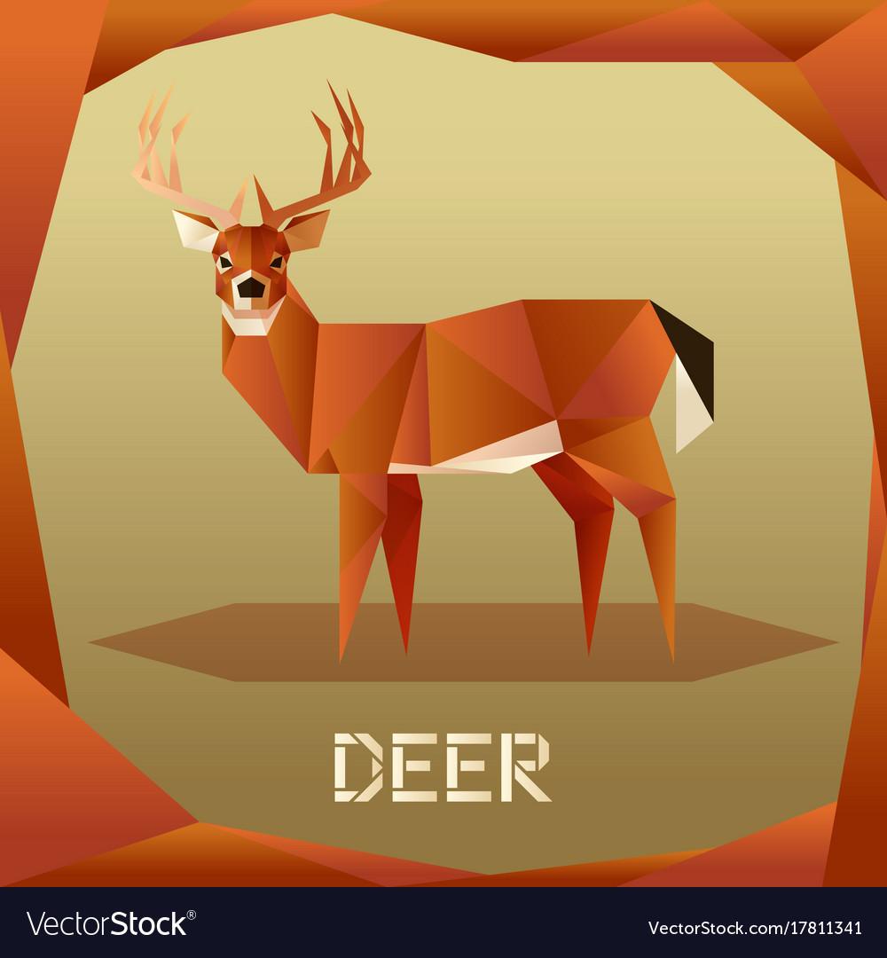 Origami brown deer