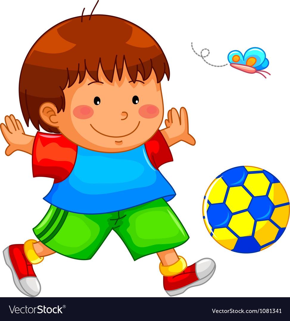 Playing kid vector image