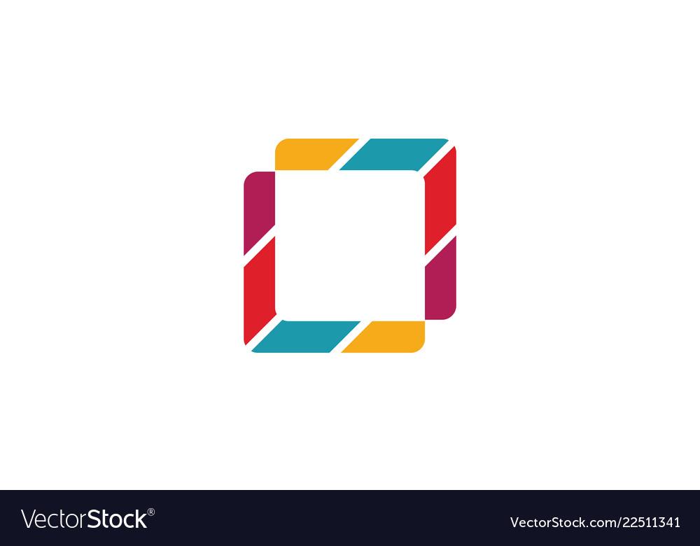 Square colored logo