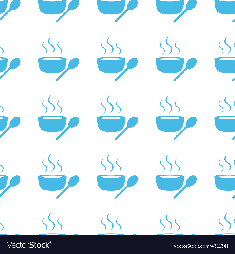 Unique Lunch time seamless pattern
