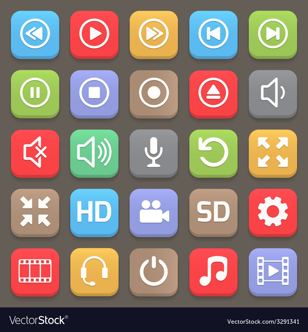 Video interface icon for web or mobile