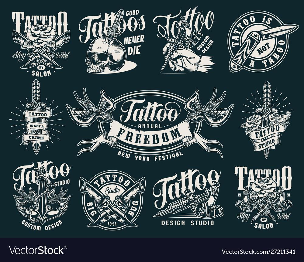 Vintage tattoo salon prints