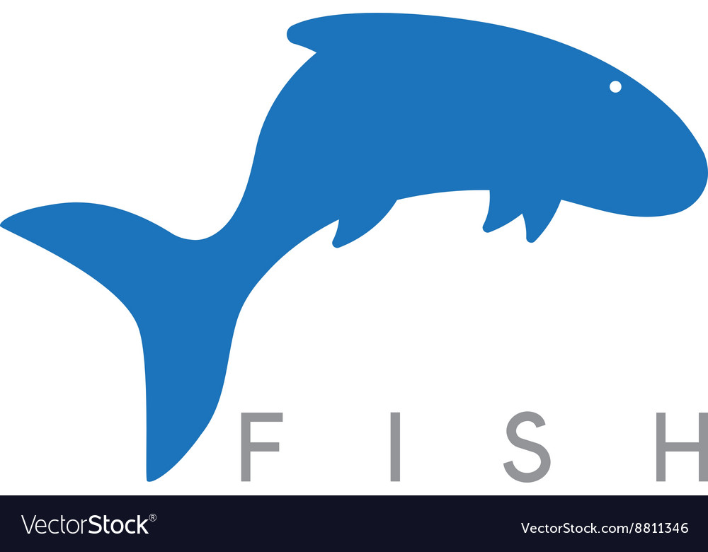 Abstract design template of jumping fish