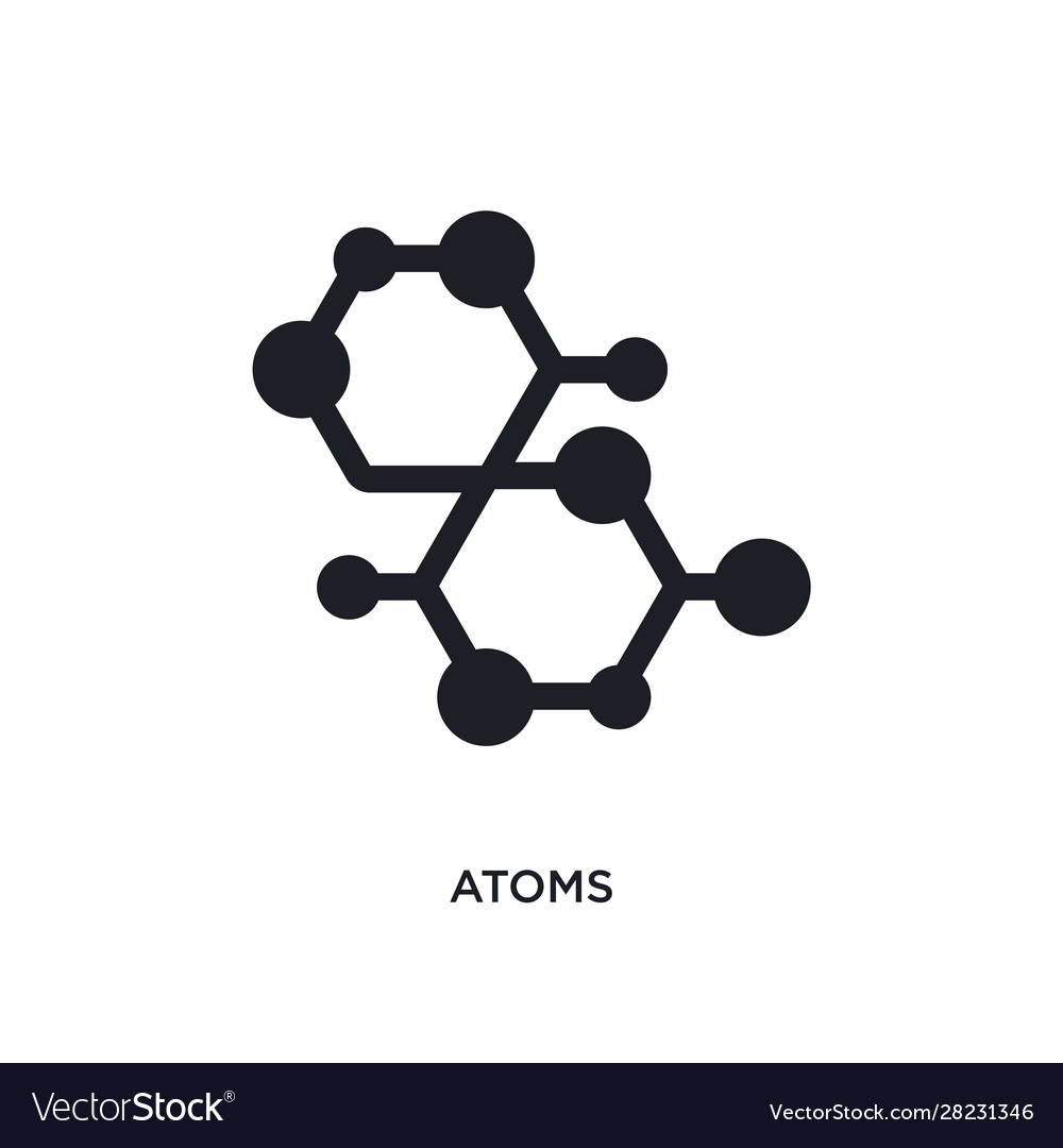 Atoms isolated icon simple element from science
