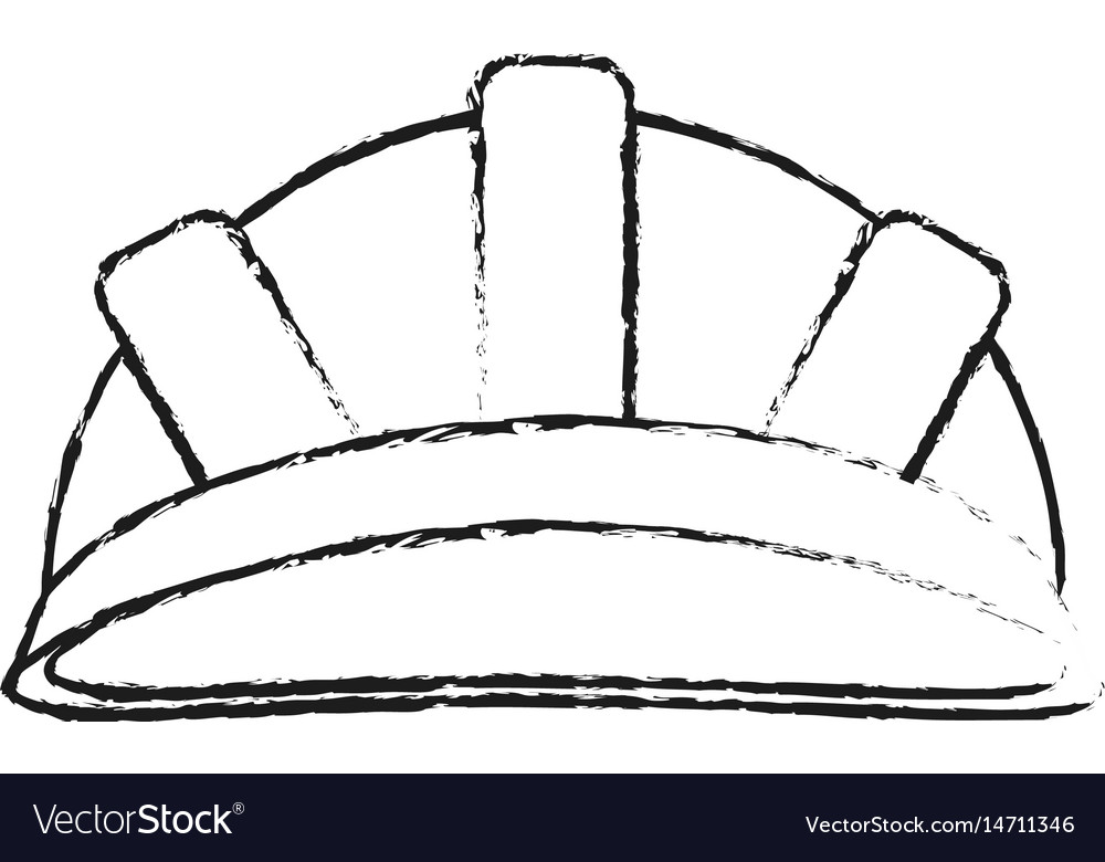 Blurred silhouette cartoon helmet for protection vector image