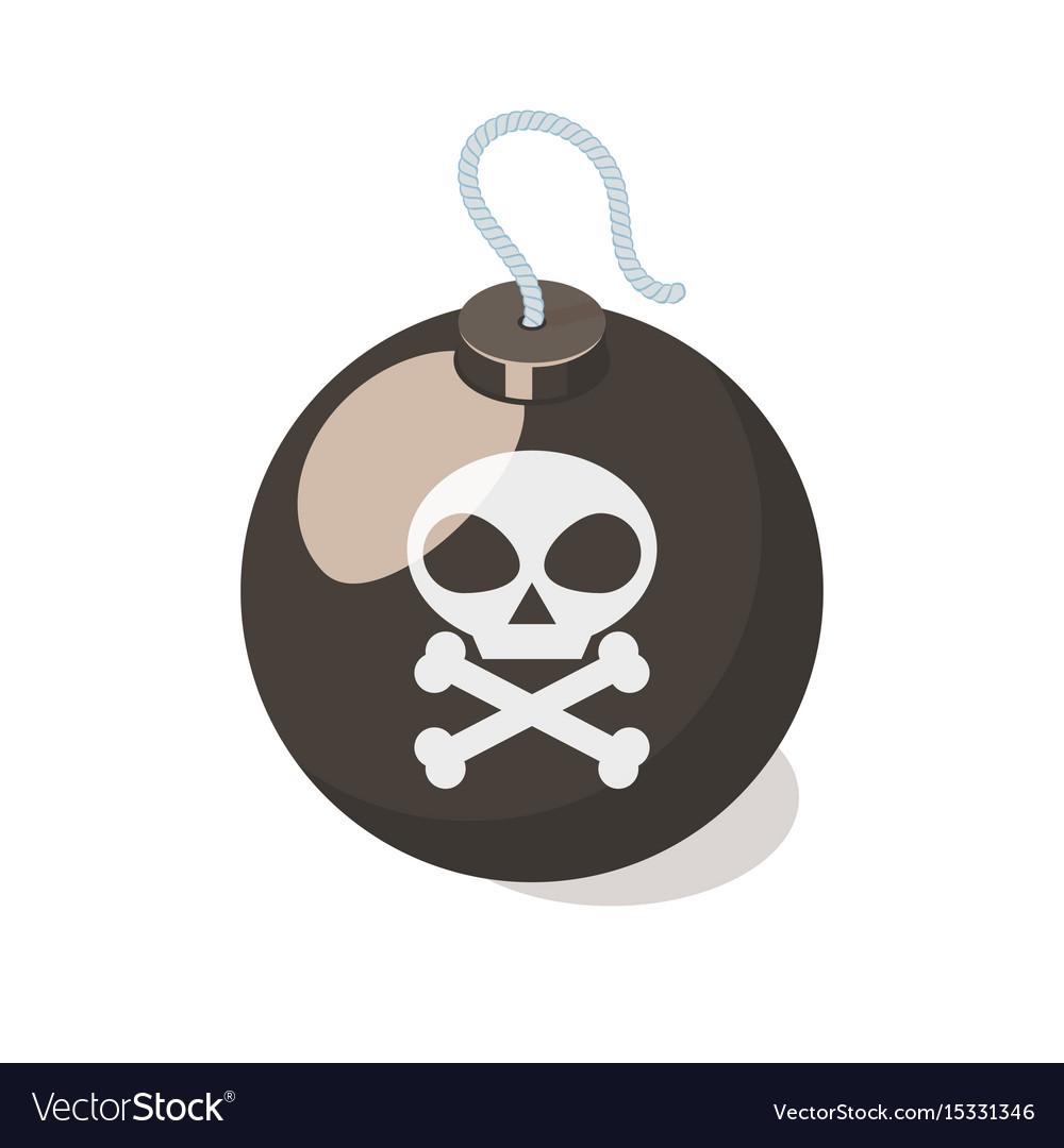 Bomb icon isolated on white background