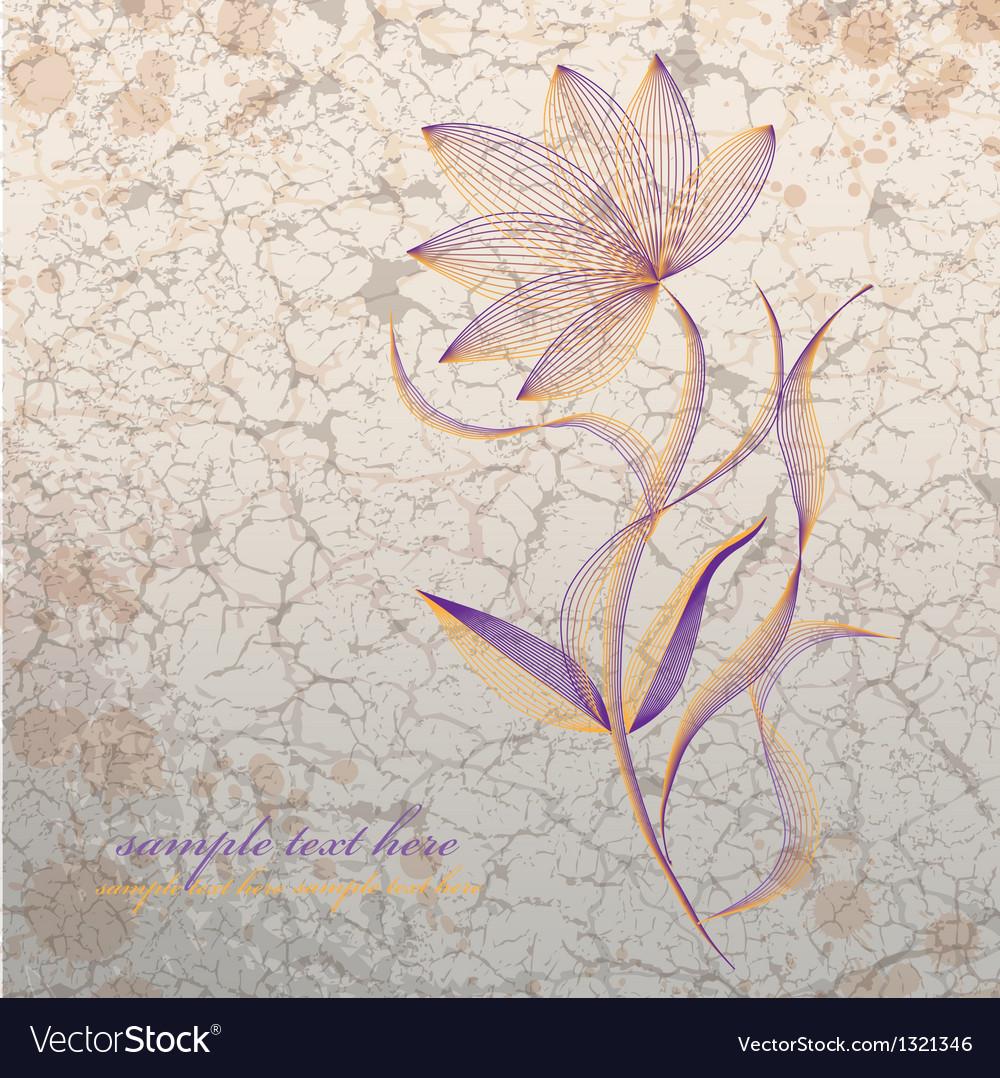Flower on grange background