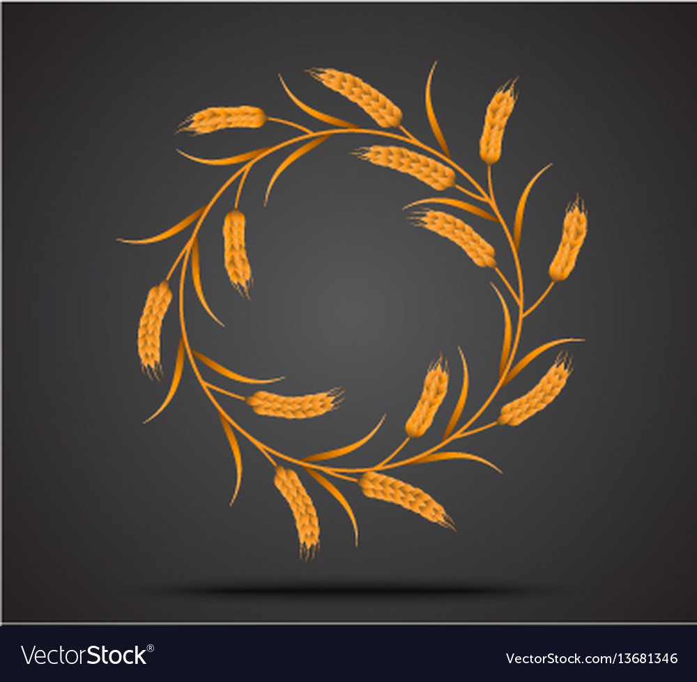 Gold wheat icon
