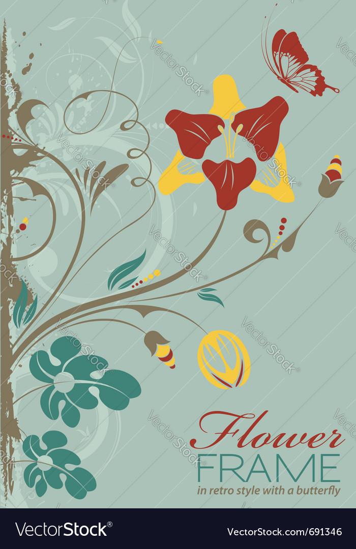 Grunge decorative floral