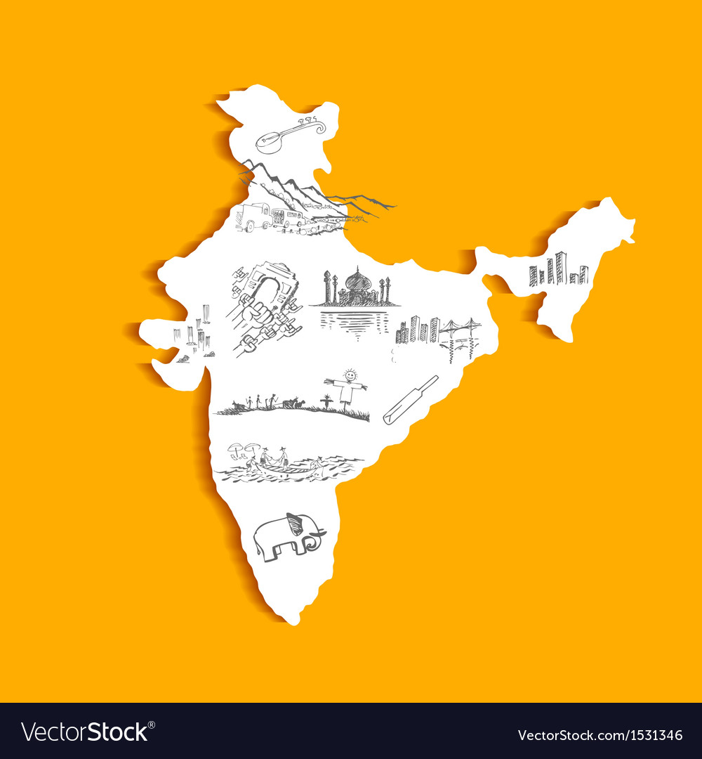 Indian Map vector image