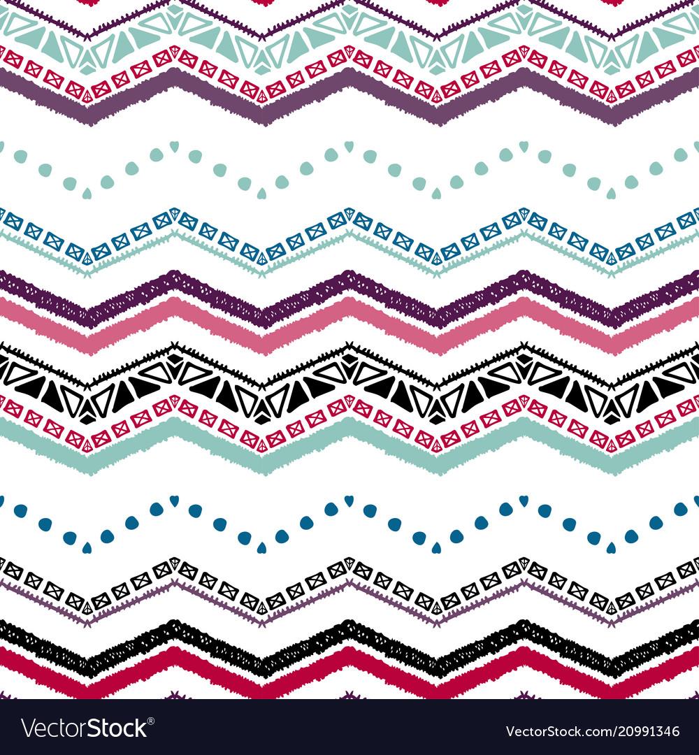 Seamless ethnic zigzag chevron pattern