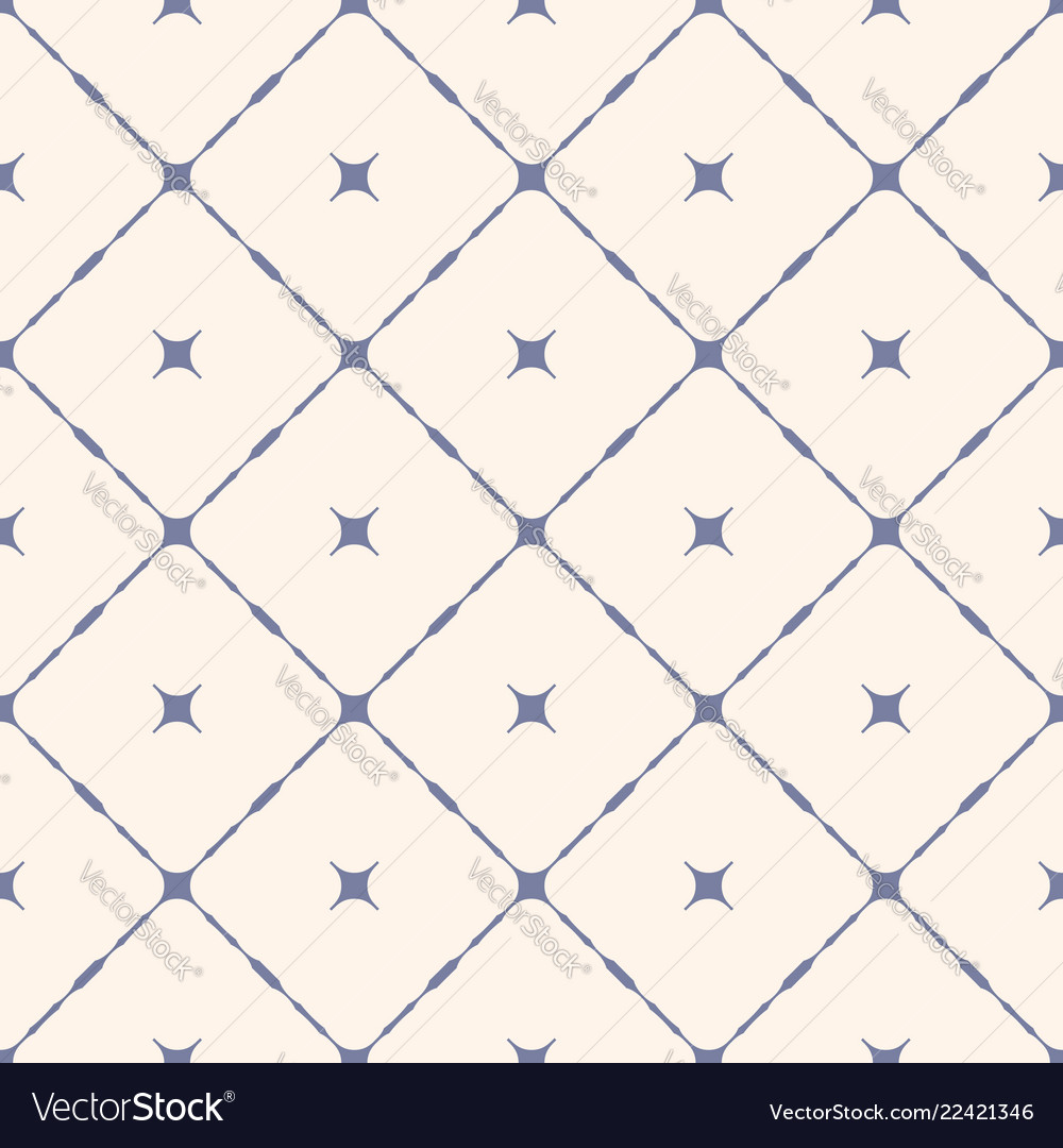Seamless pattern with diagonal square grid stars
