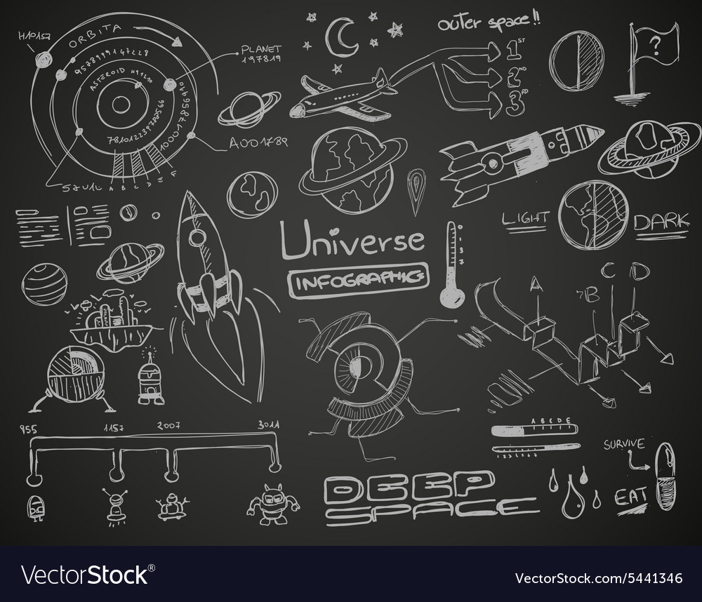 Universe Infographics Black