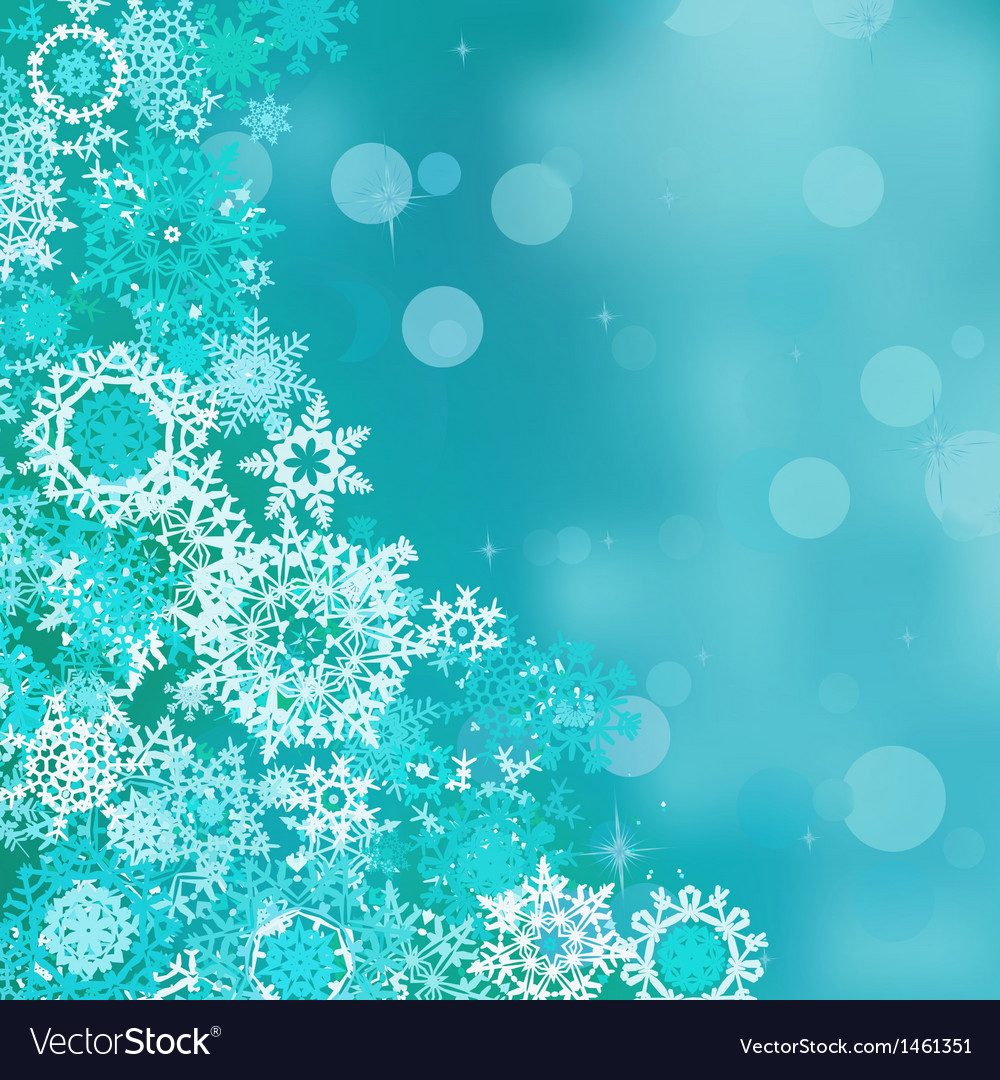 Blue background with snowflakes EPS 10