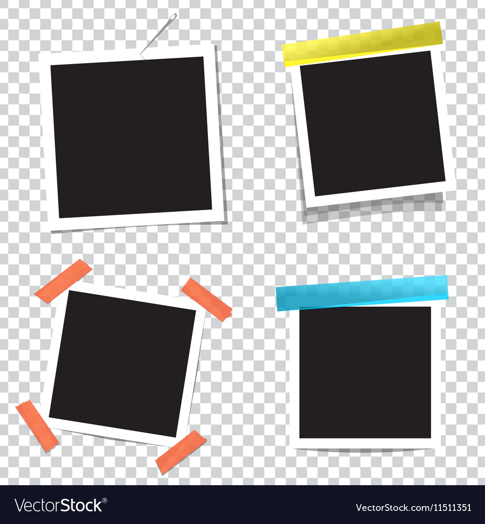 Collection of blank photo frames with