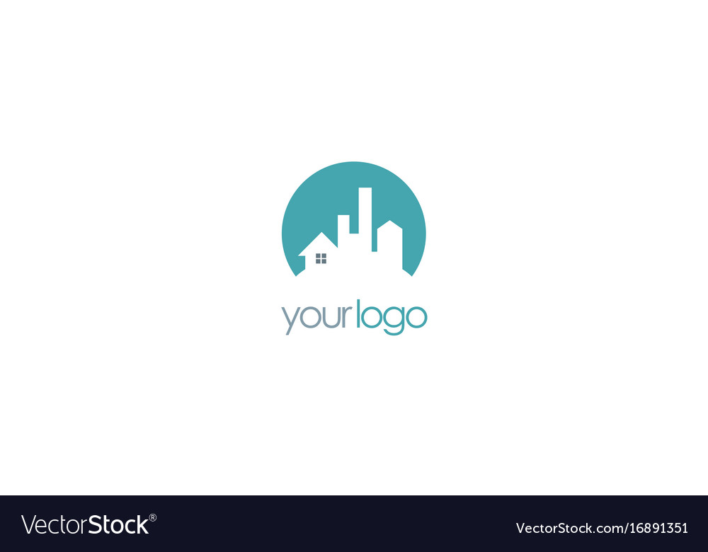 Home cityscape building logo