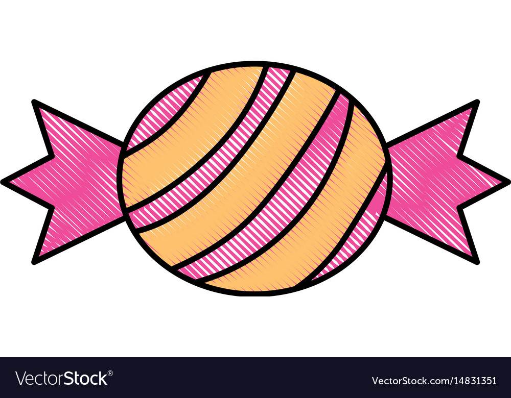 Isolated sweet candy vector image