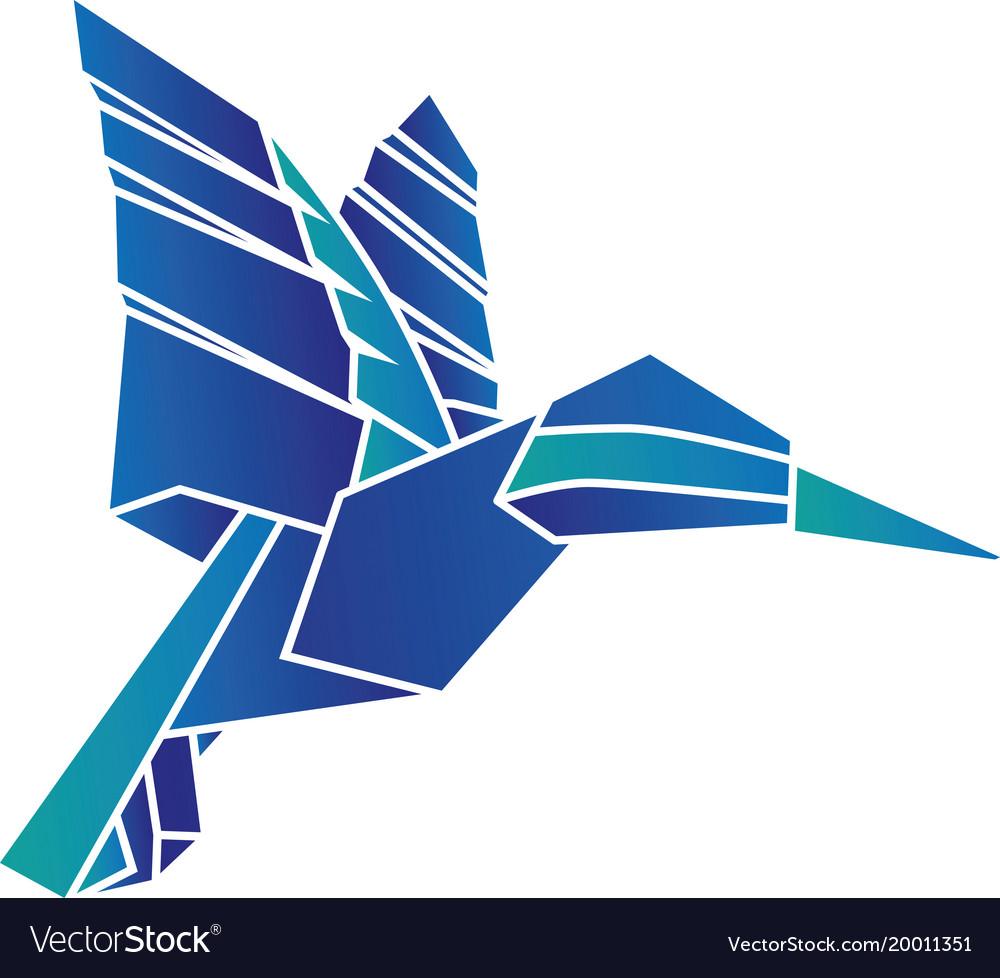 Origami Hummingbird Vector Image