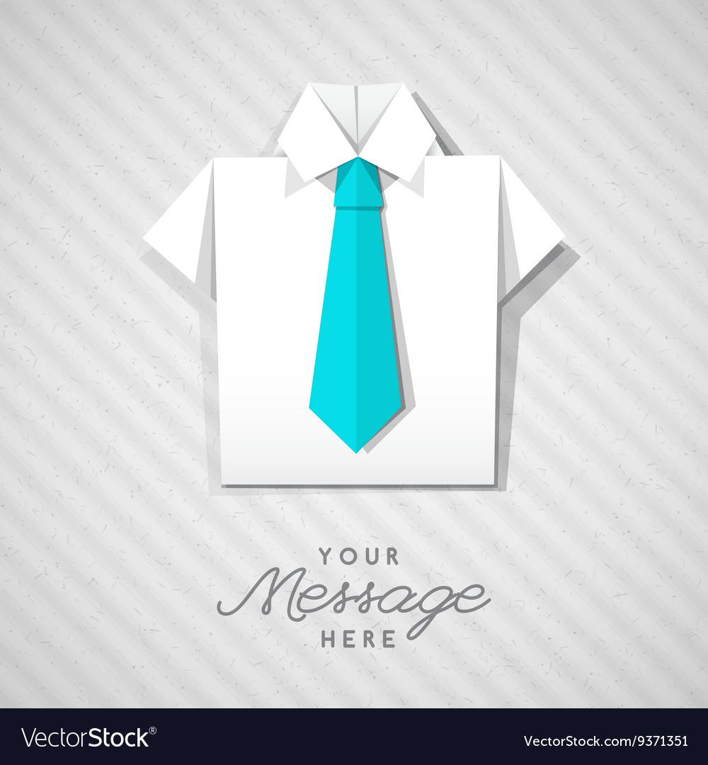 Father's Day Shirt and Tie Origami Card | Alpha Mom | 1080x1000