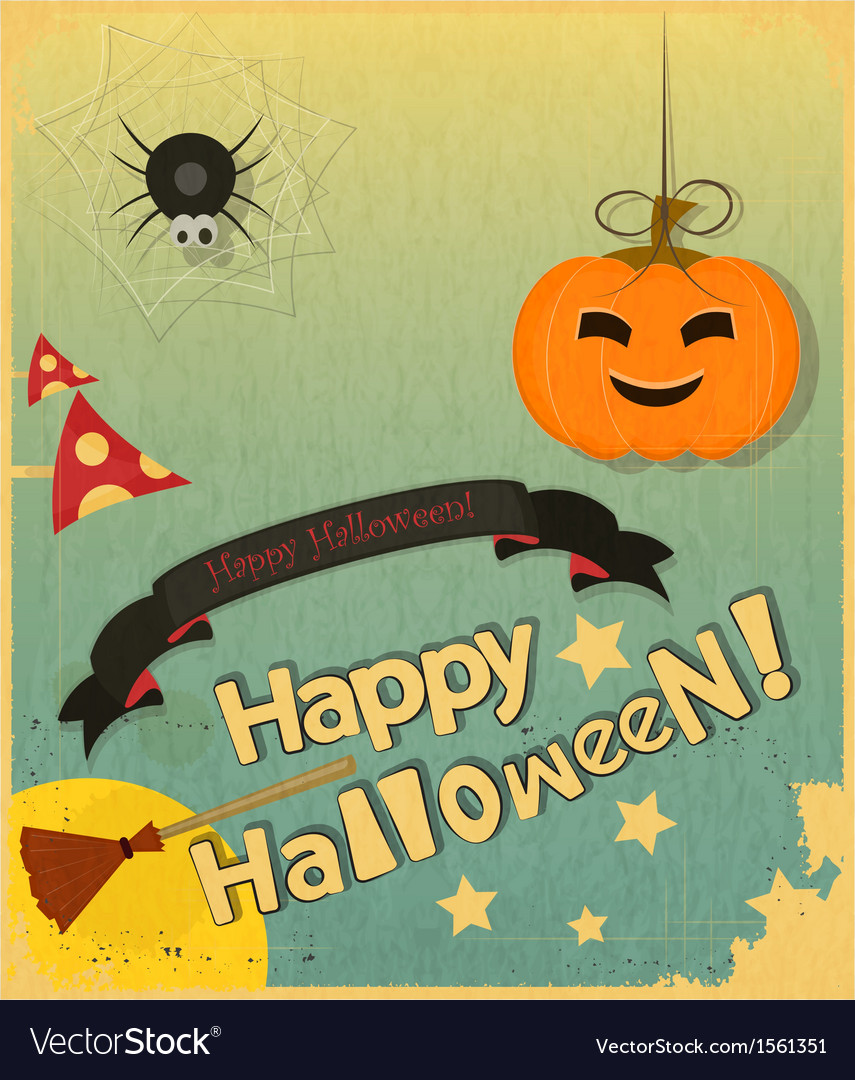Retro halloween card