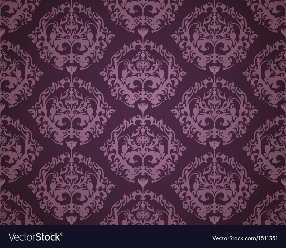 Seamless Wallpaper Pattern Dark Vector Image