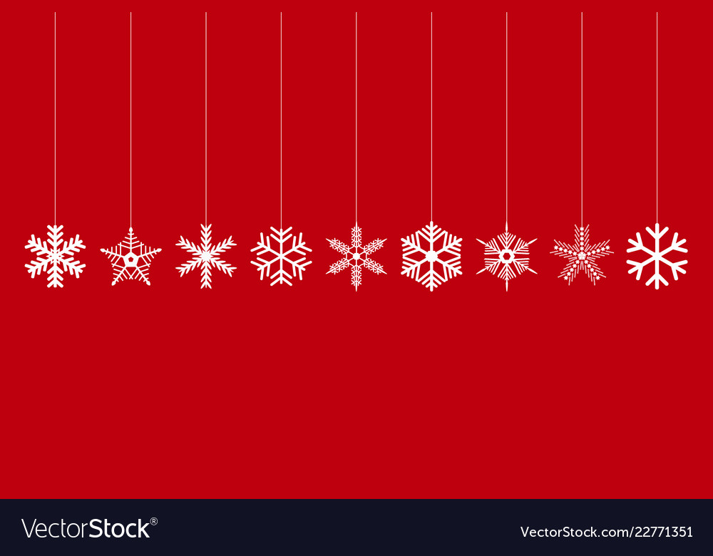 Set christmas decorated snowflakes