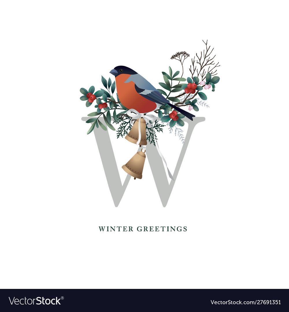 Vintage christmas greeting card invitation