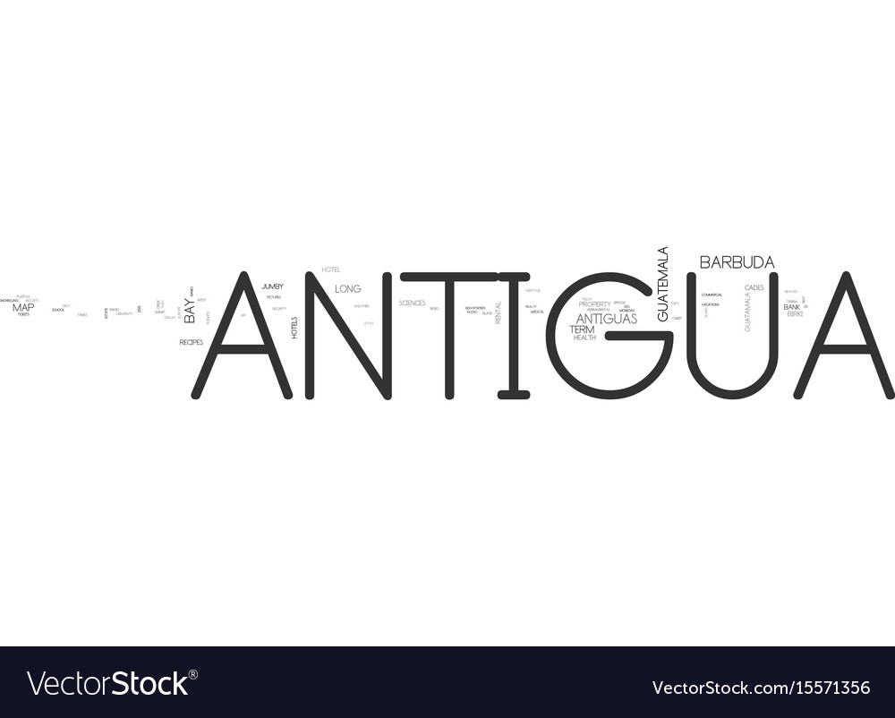 Antigua yacht text word cloud concept vector image