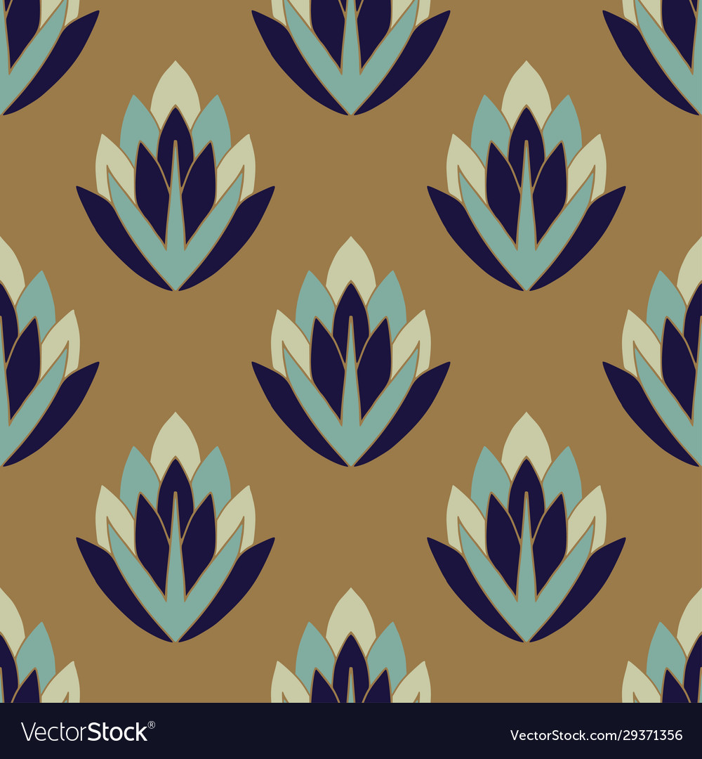 Art Deco Pattern Bohemian Wallpaper Design Vector Image