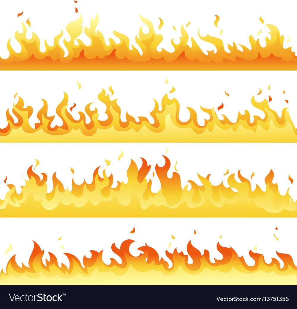 Fire flame backdrop background set horizontal