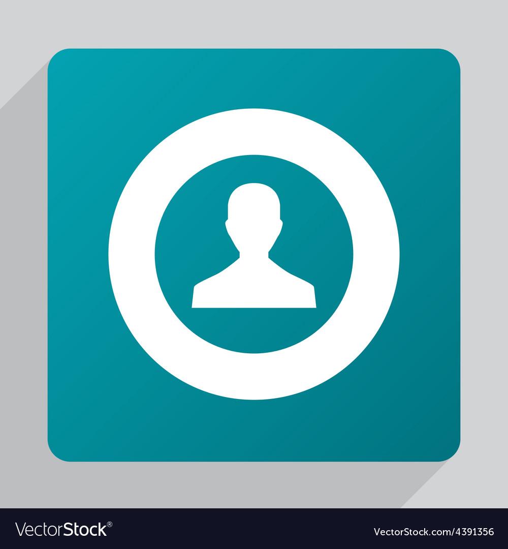Flat male profile icon