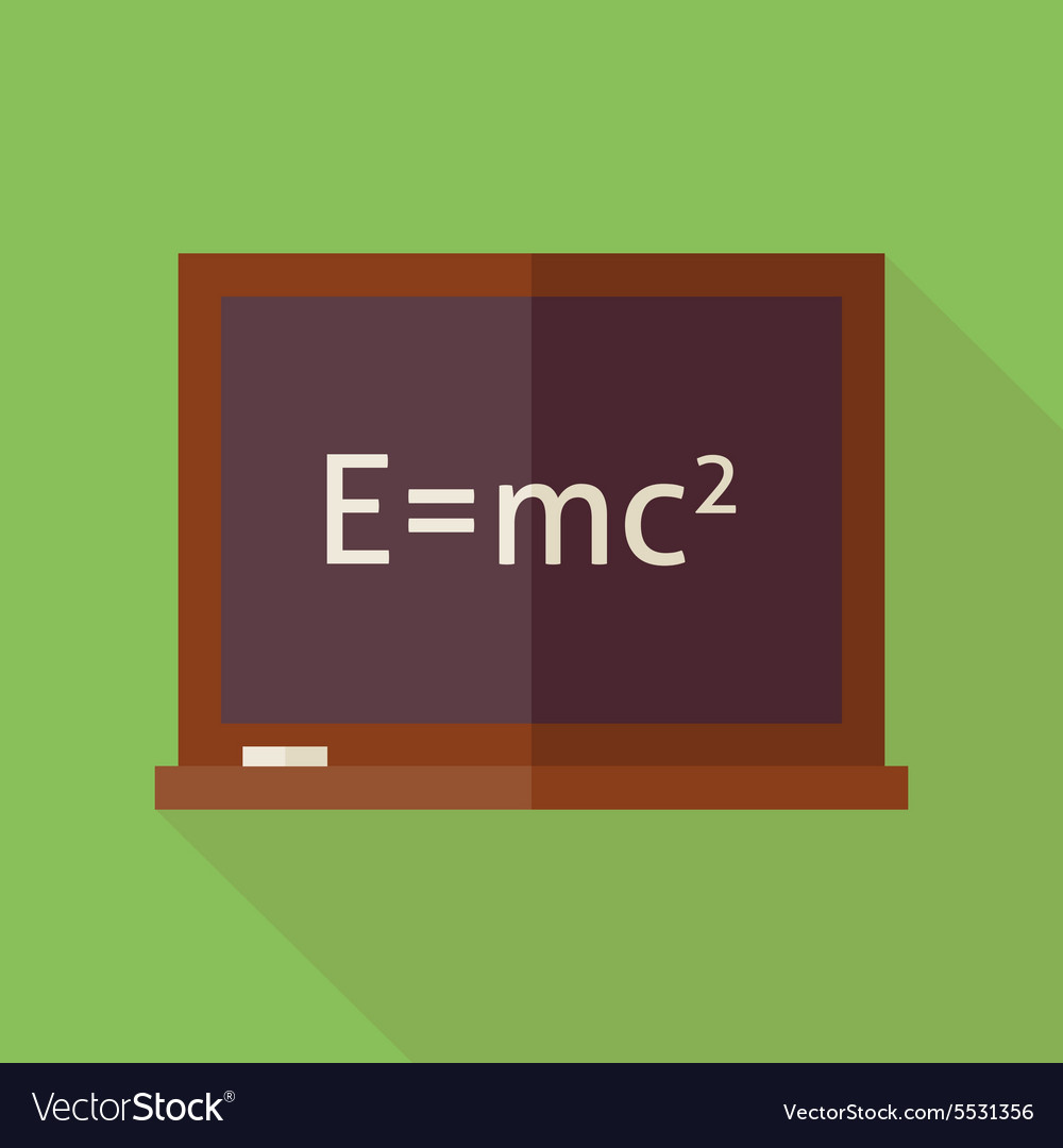 Flat Science and Education Blackboard with long