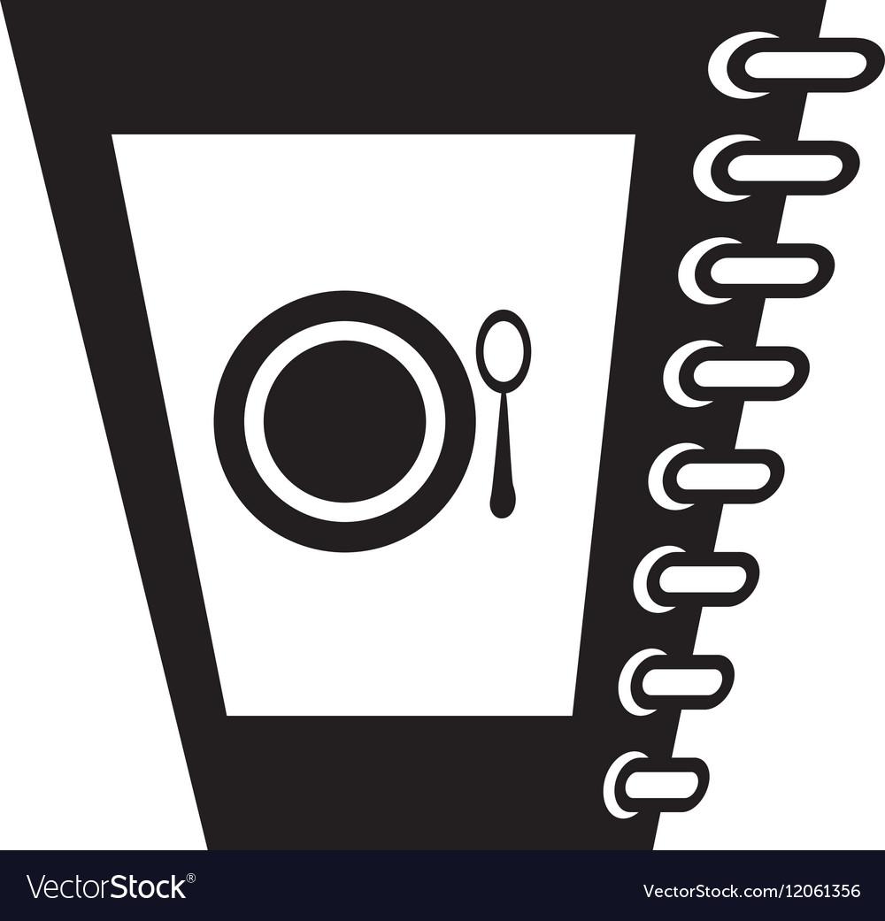 Food restaurant menu spiral notepad outline