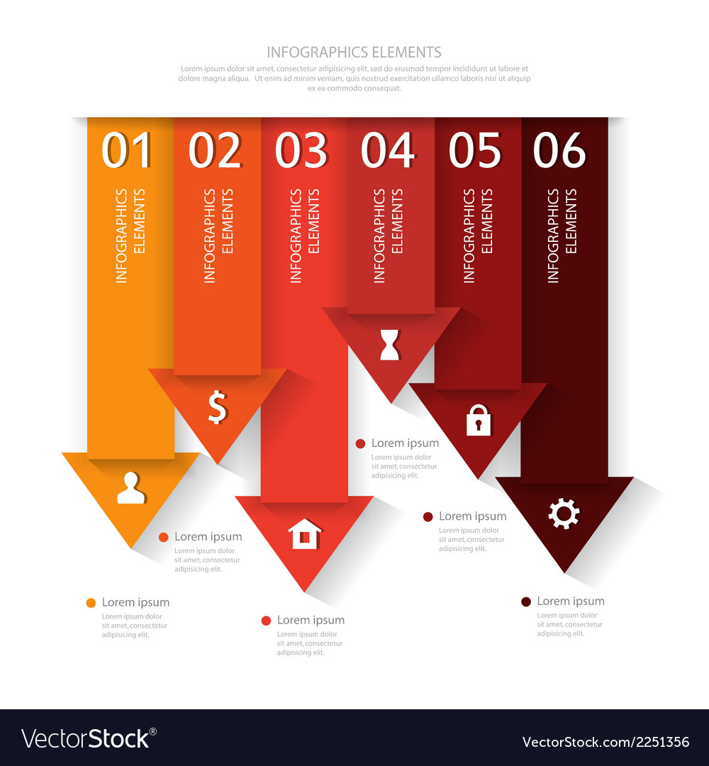 Modern business infographics abstract arrows