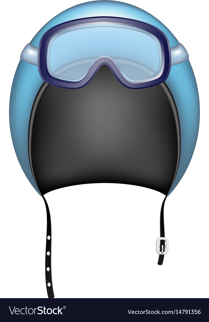 Protective helmet and ski sport goggles vector image