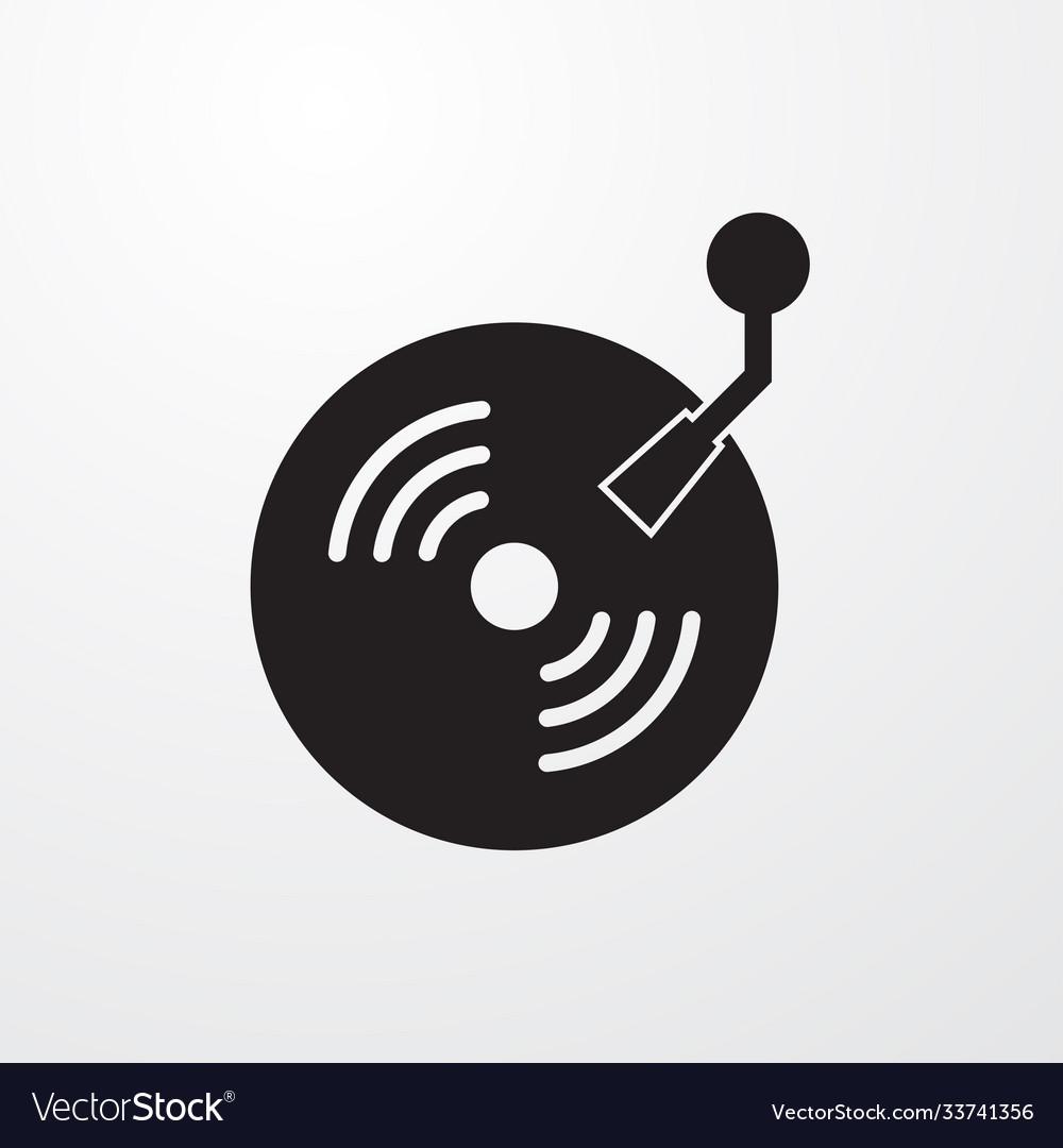 Retro vinyl icon