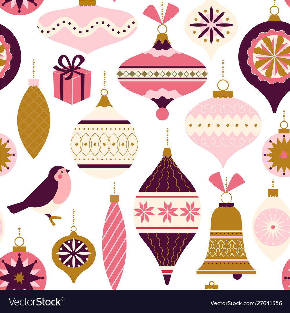 Seamless pattern christmas decor can be used for