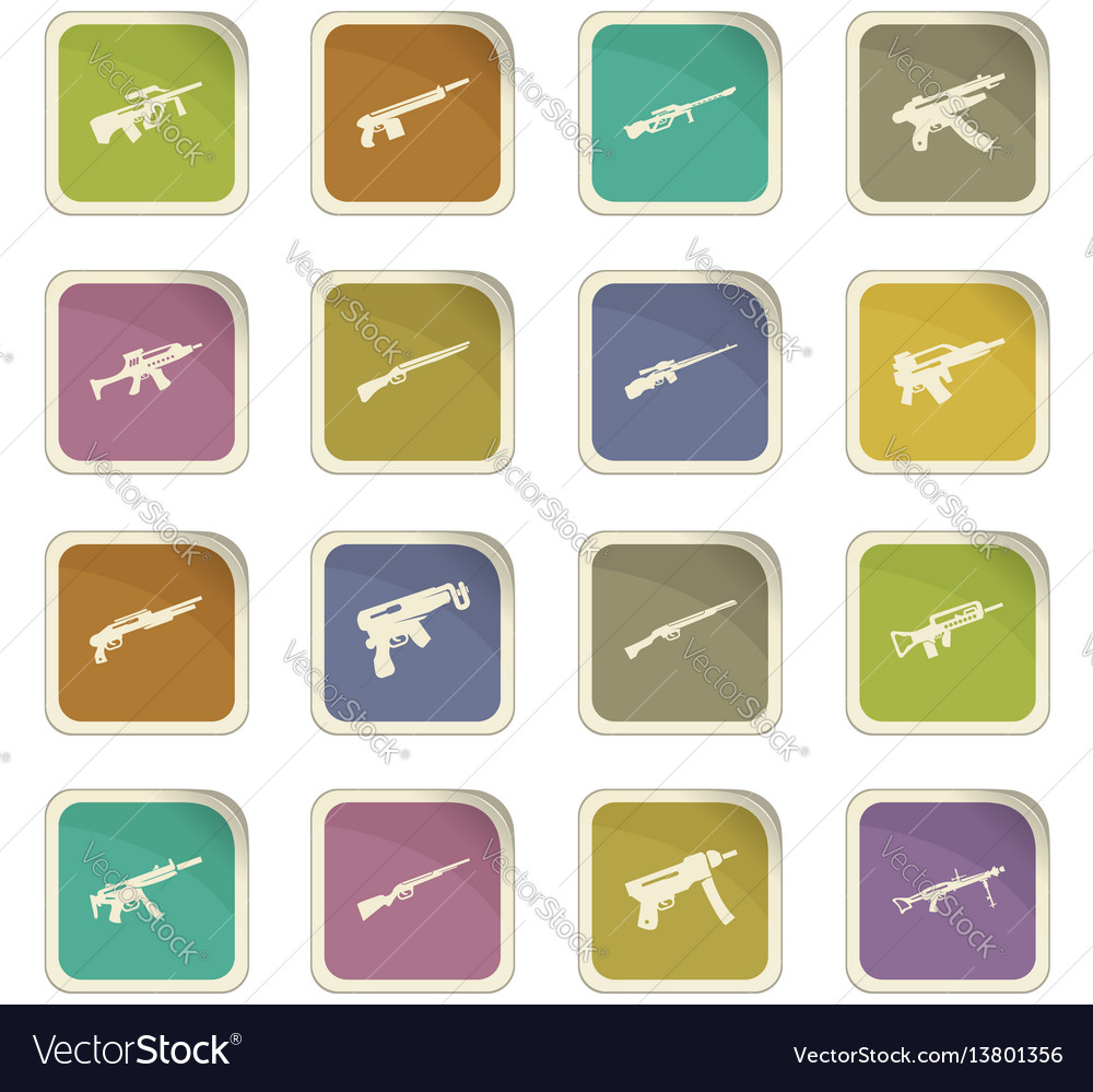 Set of hand weapons vector image