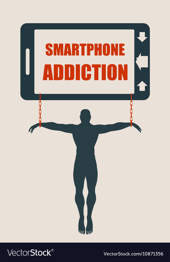 Smartphone addiction bad lifestyle concept